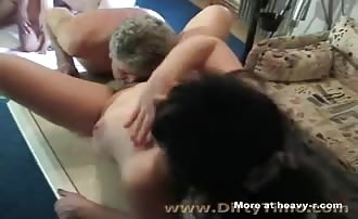 Bisexual scat orgy