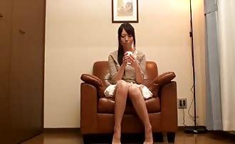 Sleeping Asian can't stop pooping in her panties