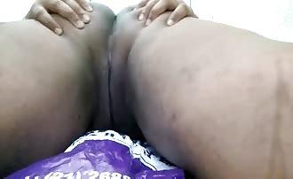 Hot latina shitting in prone bone