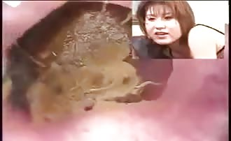 Japanese mature woman pooping