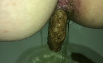 Huge turd from tight ass