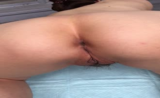 Mature woman shitting on her knees