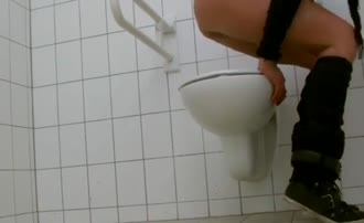 Shitting over toilet