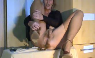 Spreading legs wide opened