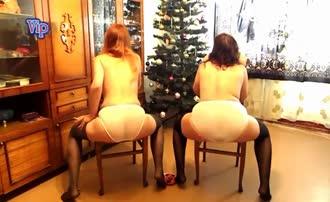 Two girls poop in their panties