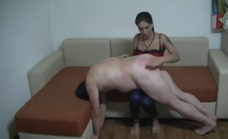 Sweet girl forced boyfriend to eat shit
