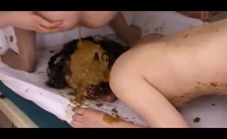 Beautiful japanese girls poop a lot on each other