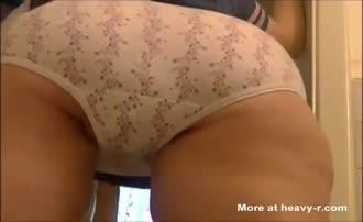 Big turd in white panties