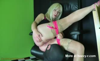 Blonde milf shits on his face