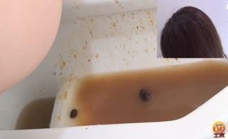 Liquid shit in public bathroom