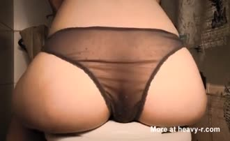 Rubbing fresh shit on her entire ass